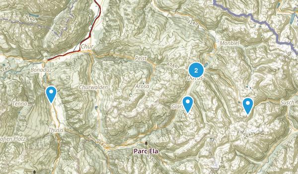 Graubünden, Switzerland Map