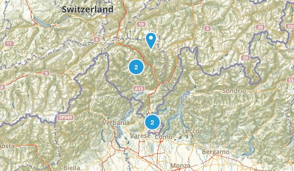 Ticino, Switzerland Map