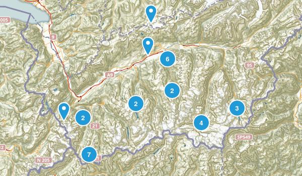 Valais, Switzerland Map