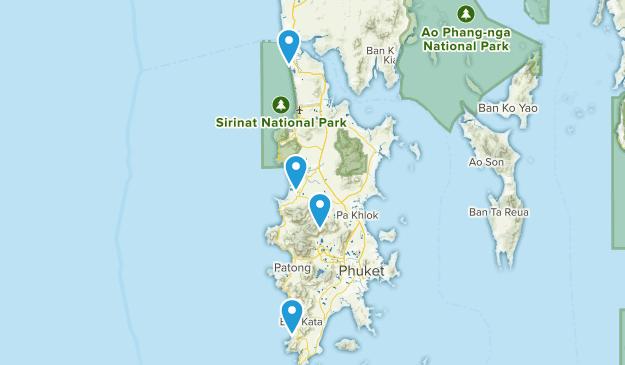 Phuket, Thailand Cities Map
