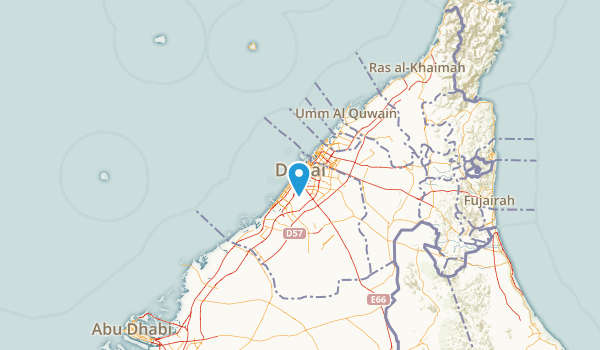 Dubai, United Arab Emirates Map