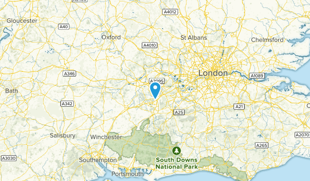 Bracknell Forest, United Kingdom Cities Map
