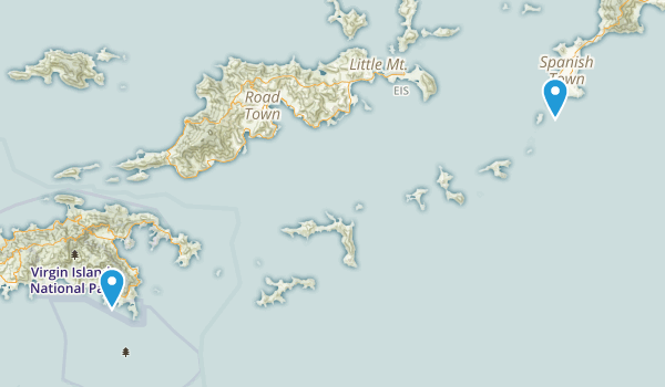 British Virgin Islands, United Kingdom Map