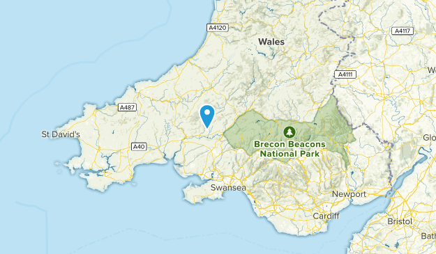 Carmarthenshire, United Kingdom Cities Map