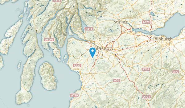East Renfrewshire, United Kingdom Map