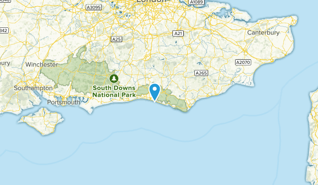 East Sussex, United Kingdom Cities Map