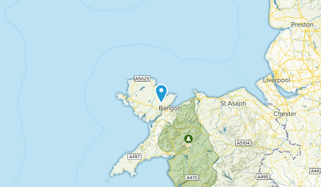 Isle of Anglesey, United Kingdom Cities Map