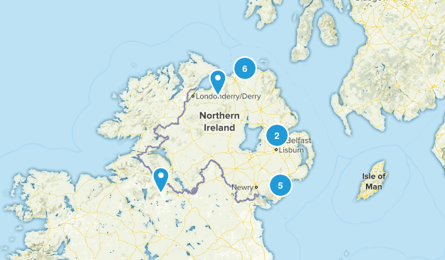 Map Of Ireland United Kingdom.Best Trails In Northern Ireland United Kingdom Alltrails