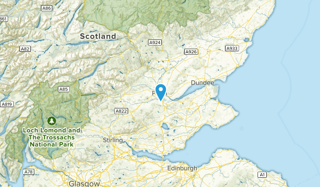 Perth and Kinross, United Kingdom Cities Map