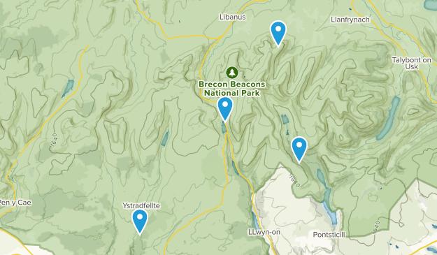 Powys, United Kingdom Map