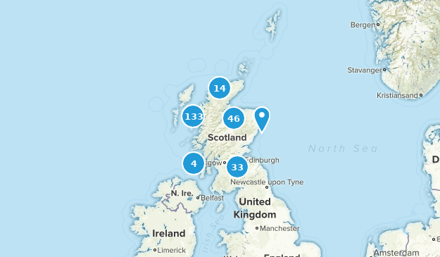 Scotland, United Kingdom Cities Map