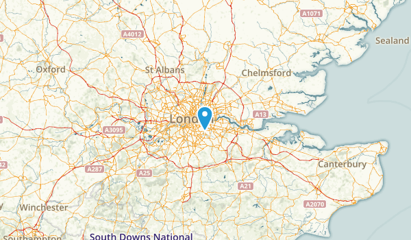 Tower Hamlets, United Kingdom Map