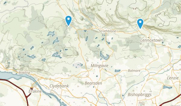 West Dunbartonshire, United Kingdom Map