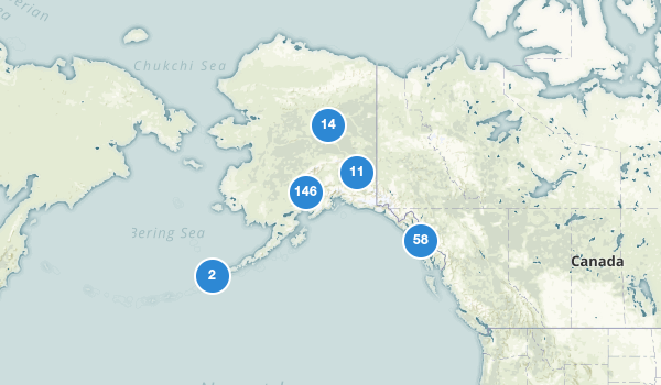 trail locations for Alaska