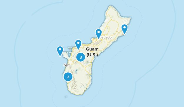 Guam Cities Map