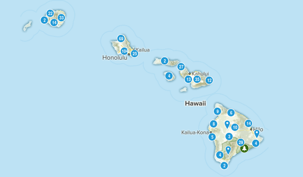 Hawaii Cities Map