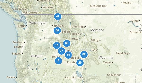 trail locations for Idaho