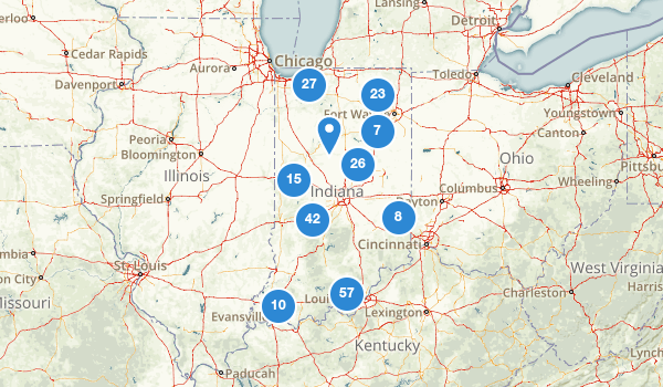 trail locations for Indiana