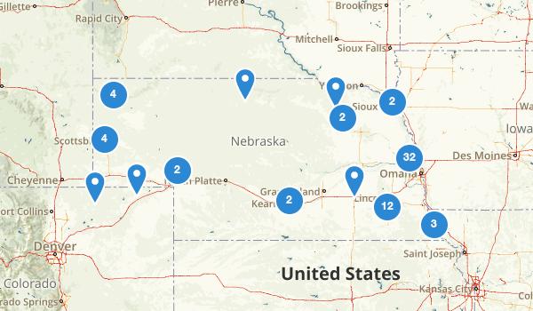 trail locations for Nebraska