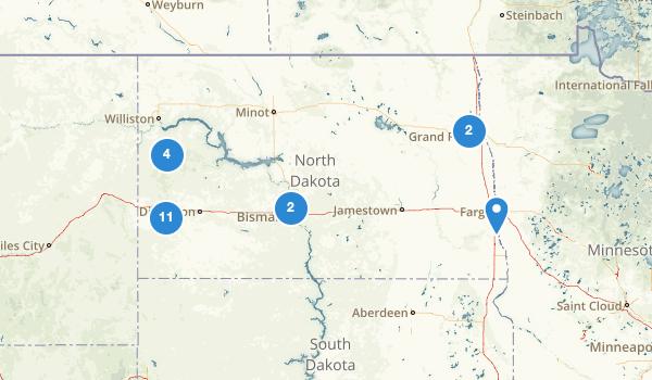 trail locations for North Dakota