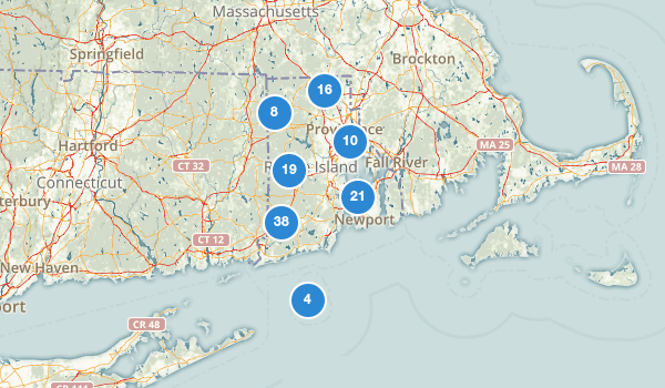 trail locations for Rhode Island