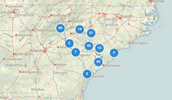 trail locations for South Carolina