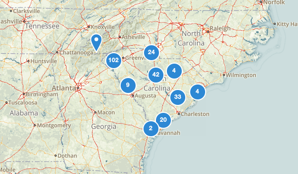 trail locations for South Carolina
