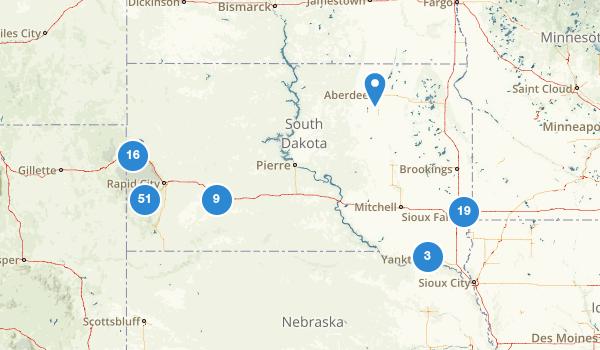 trail locations for South Dakota