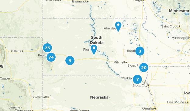 South Dakota Cities Map