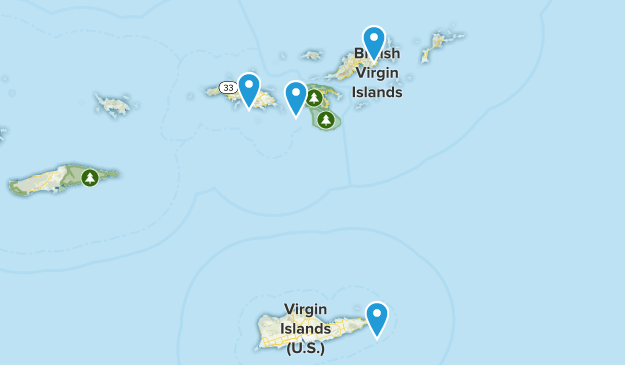 Virgin Islands Cities Map