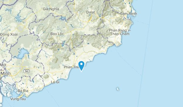 Bình Thuận, Vietnam Map
