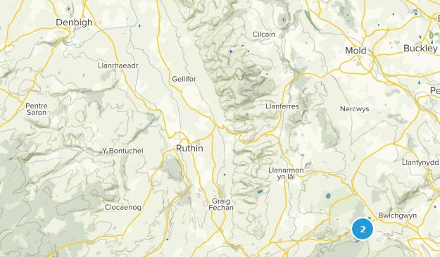 Denbighshire, Wales Cities Map