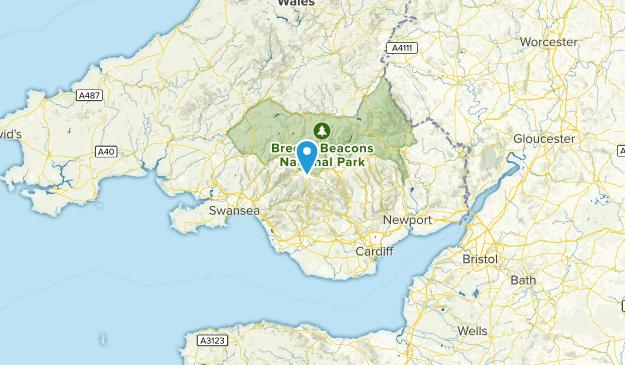 Rhondda, Wales Cities Map