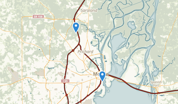 trail locations for Mobile, Alabama