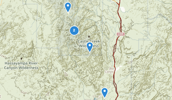 trail locations for Crown King, Arizona