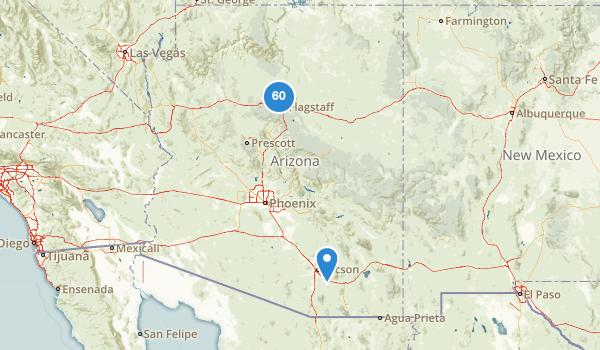 trail locations for Flagstaff, Arizona