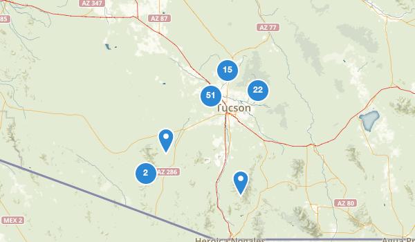 trail locations for Tucson, Arizona