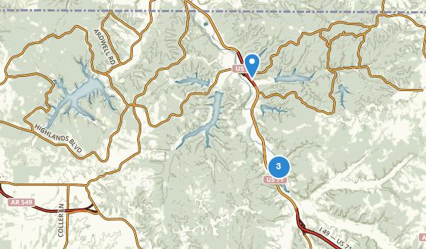 trail locations for Bella Vista, Arkansas