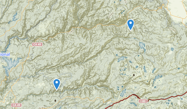 trail locations for Alleghany, California