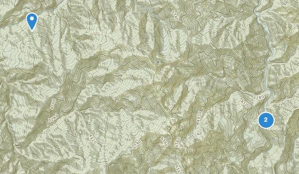 trail locations for Big Bar, California