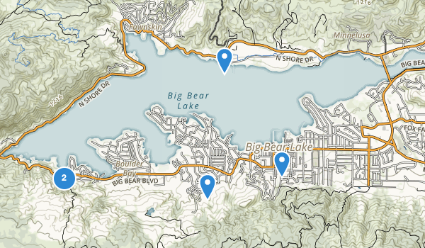 trail locations for Big Bear Lake, California