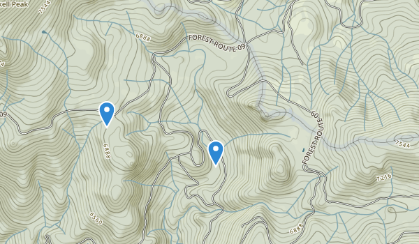 trail locations for Calpine, California
