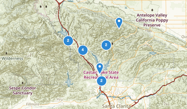 trail locations for Castaic, California
