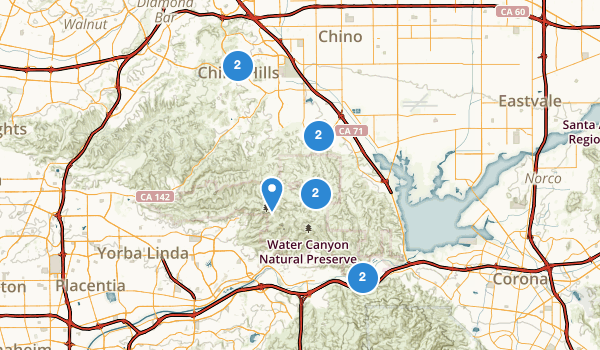 trail locations for Chino Hills, California