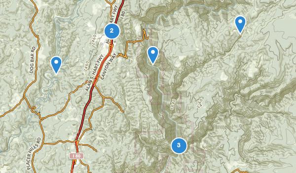 trail locations for Colfax, California