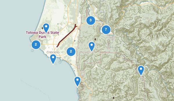 trail locations for Crescent City, California