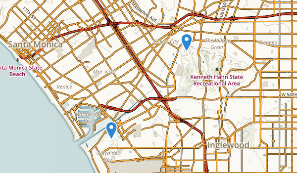 trail locations for Culver City, California