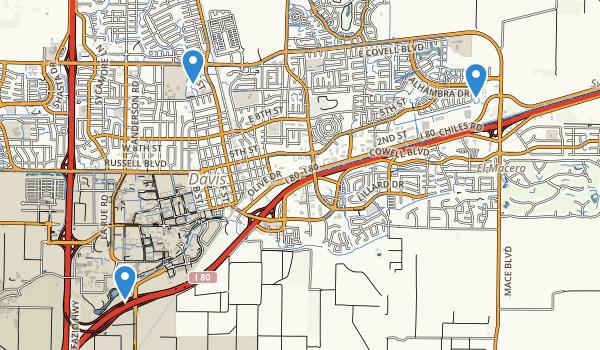 trail locations for Davis, California
