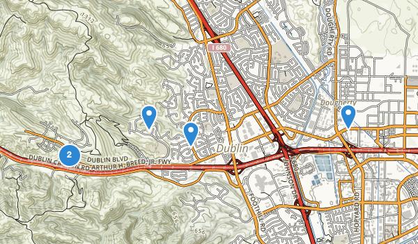 trail locations for Dublin, California