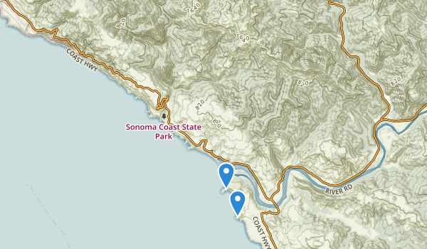 trail locations for Duncans Mills, California